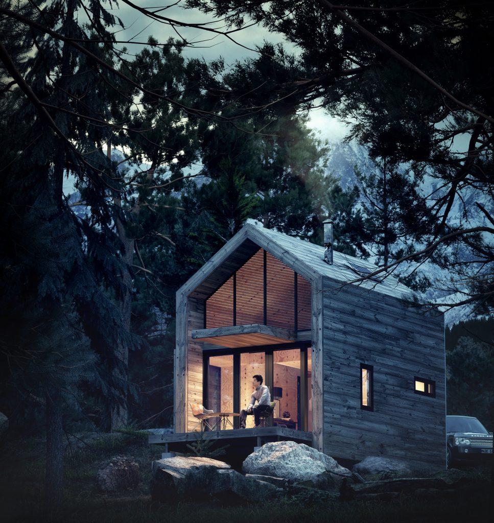 visualización arquitectónica de exterior