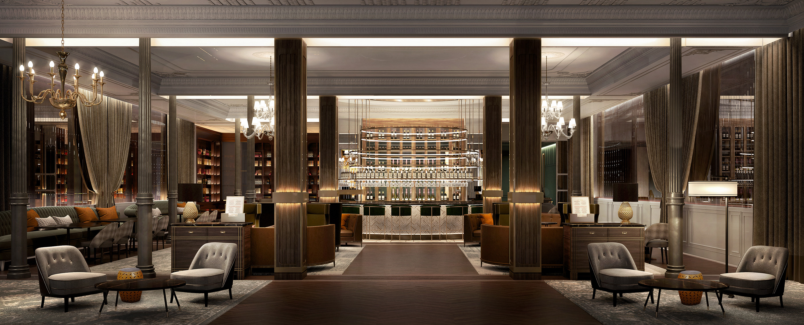 cafe architectural render