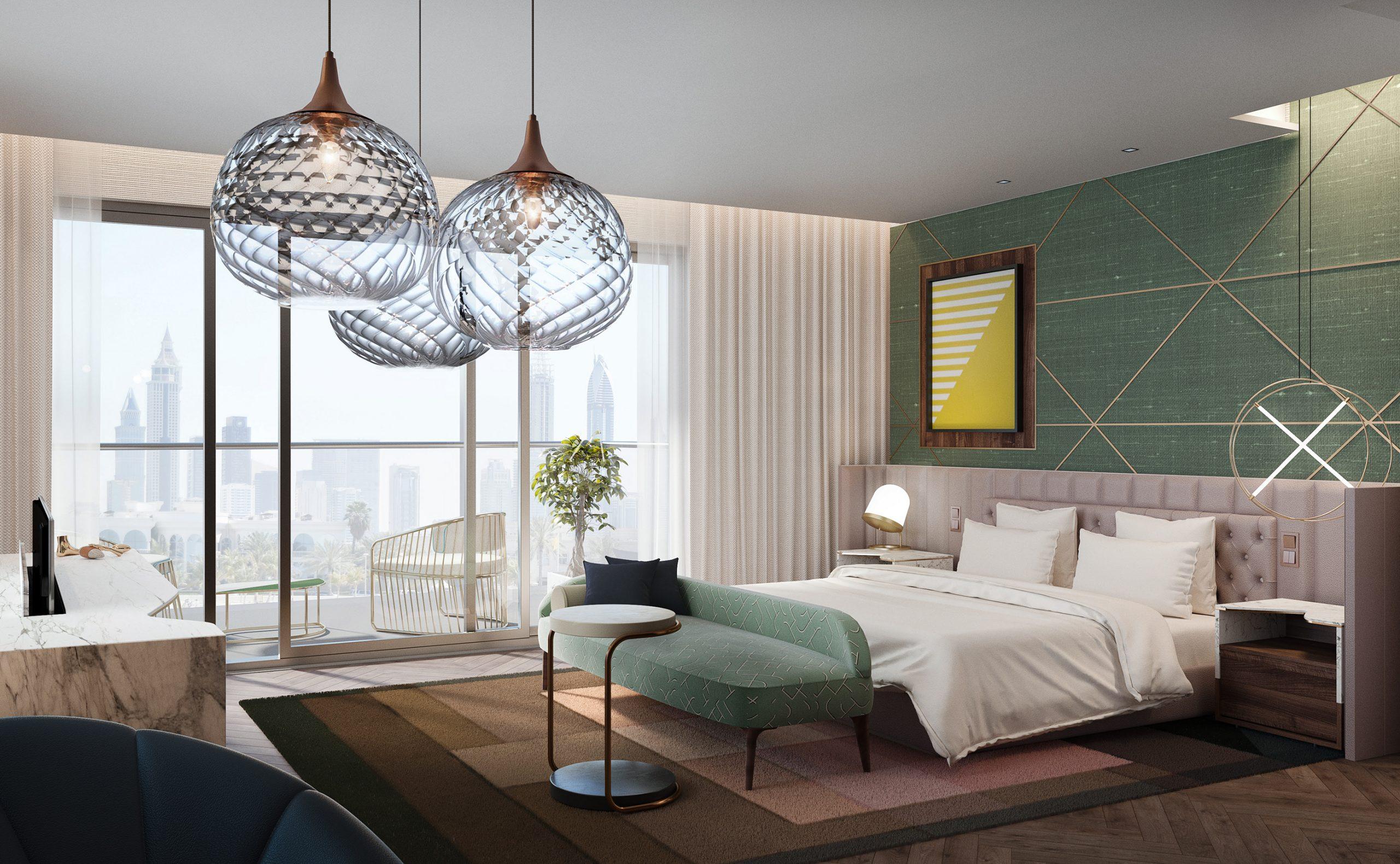 visualización arquitectónica de hotel en dubai